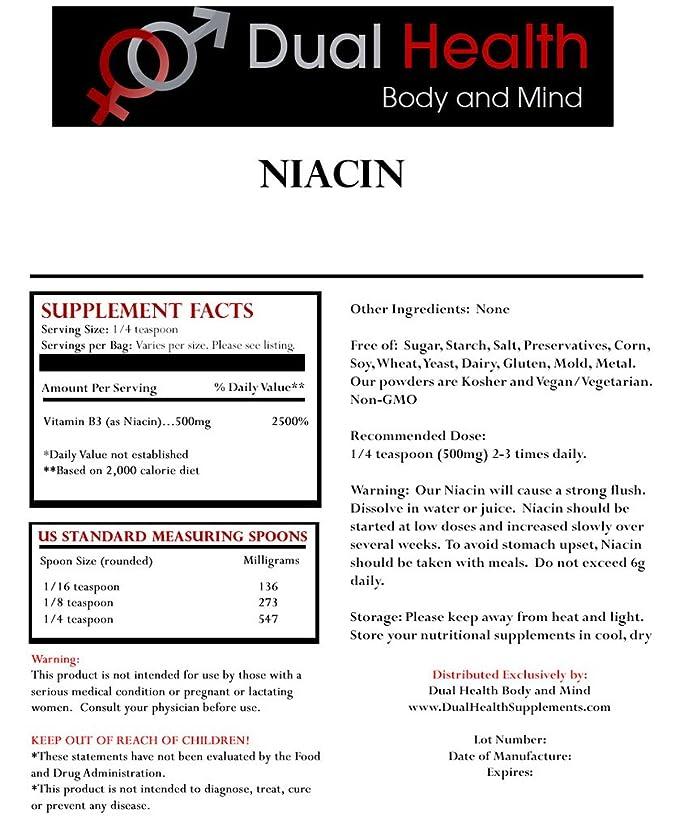 Amazon.com: Pure Niacina (100 gramos (3,5 oz)) Suplementos ...