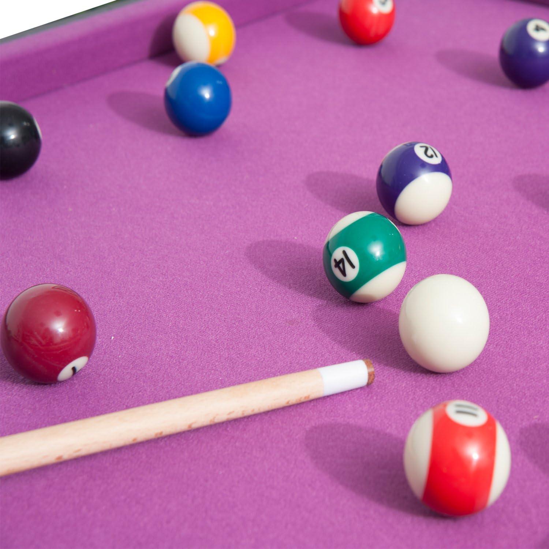HOMCOM - Mesa de minijuegos 3 en 1: Billar, Hockey y Tenis de Mesa ...