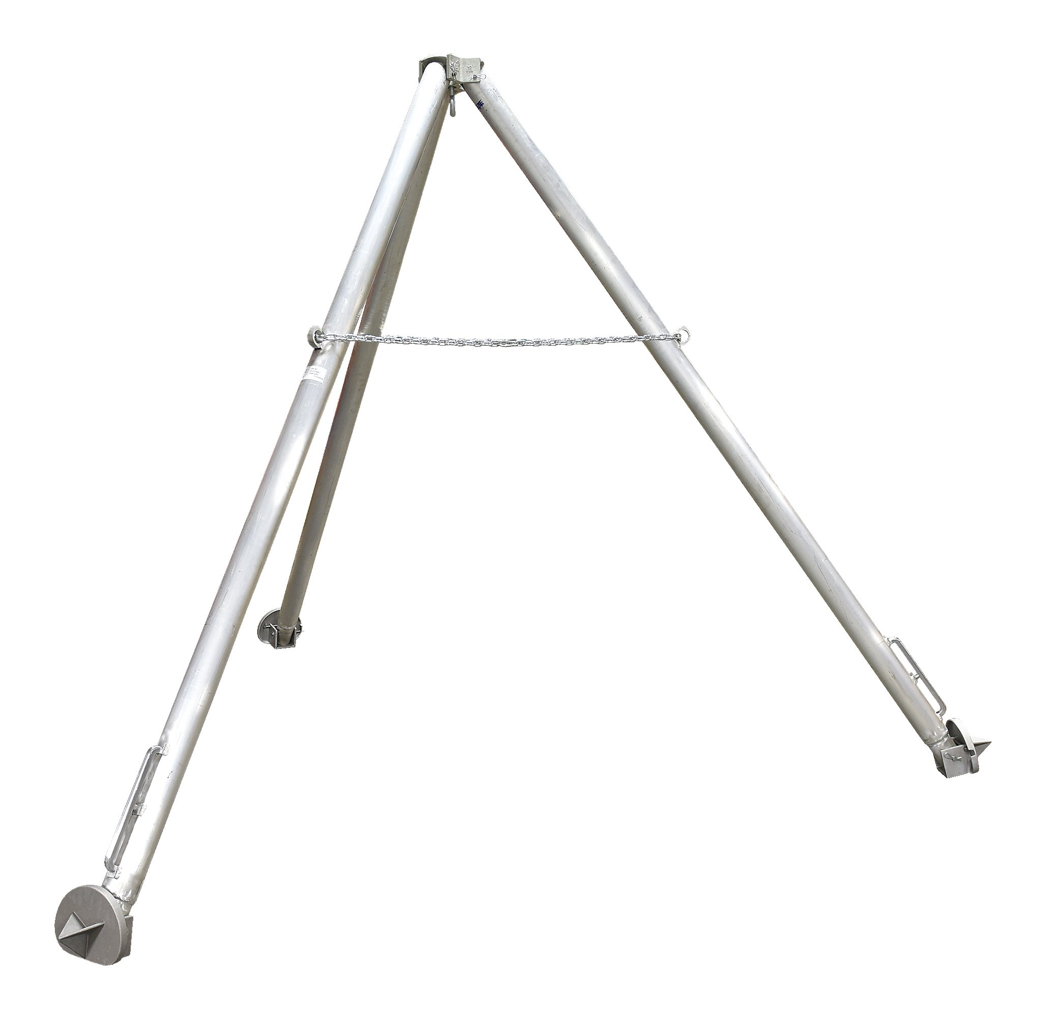 Vestil TRI-AF Aluminum Tripod Stand with Fixed Legs Color: Silver, Overall LxWxH (in.) 109 x 109 x 114, Eyelet Height (in.) 106-7/8, 1000 lb Uniform Capacity. by Vestil