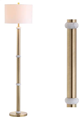 JONATHAN Y JYL1088A Gregory 60.5″ Metal/Marble LED Floor Lamp Contemporary,Transitional