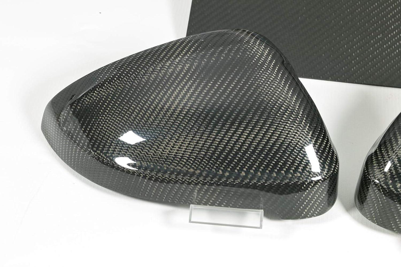 Max Auto Lot de 4 capuchons de r/étroviseur en carbone pour A4 S4 RS4 A5 S5 RS5 B9 F5 Side Assist