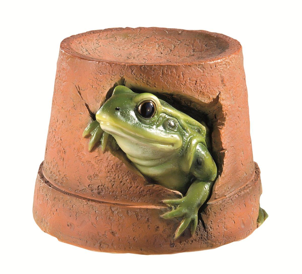 Ornamental Frog Flower Pot Gardman GFA043