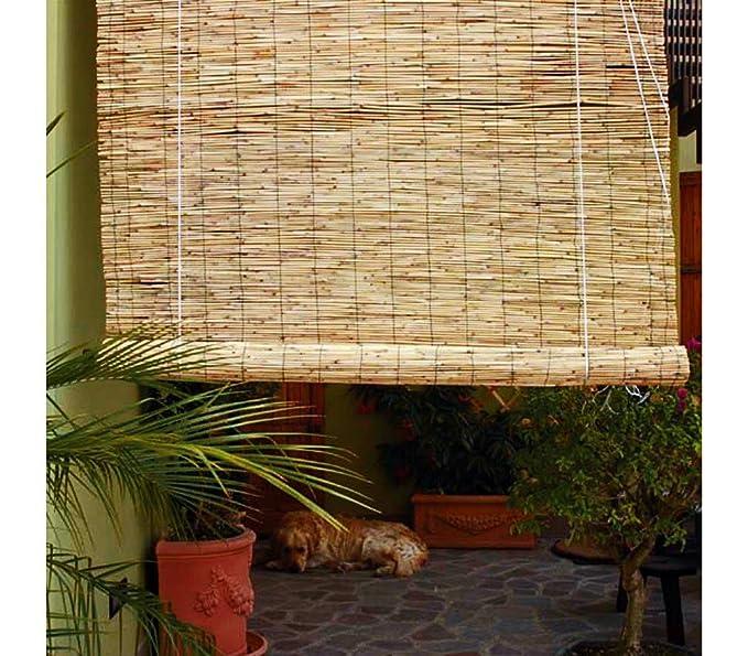 Amazon De Bambus Rollo Arella Mit Schnurzug Wetterfest 90 X 180