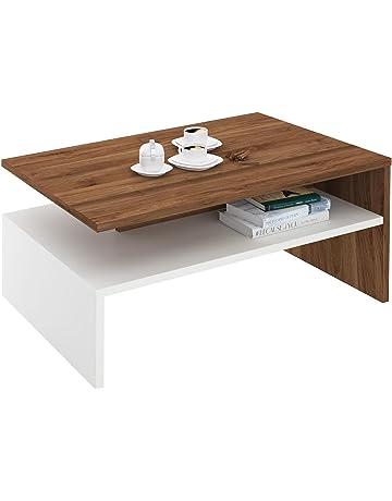 IDIMEX Table Basse de Salon Adelaide rectangulaire avec Rangement mélaminé 5c9ece629cf4