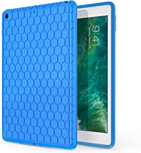 MoKo Fit 2018/2017 iPad 9.7 6th/5th Generation - Light Weight Shock Proof Soft Silicone Back Cover [Kids Friendly] Fit iPad 9.7 Inch 2018/2017, Blue