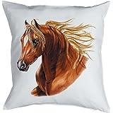 Deko/Sofakissen mit Füllung Pferde-Motiv: Horse - tolle Geschenkidee für Pferde-Freunde