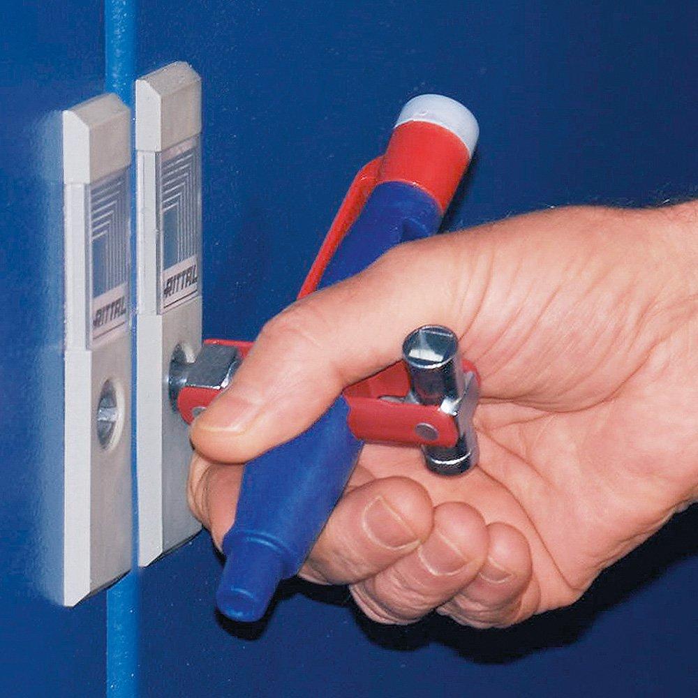 KNIPEX 00 11 17 Stift-Schaltschrank-Schl/üssel mit Spannungsfinder f/ür g/ängige Schr/änke und Absperrsysteme 155 mm