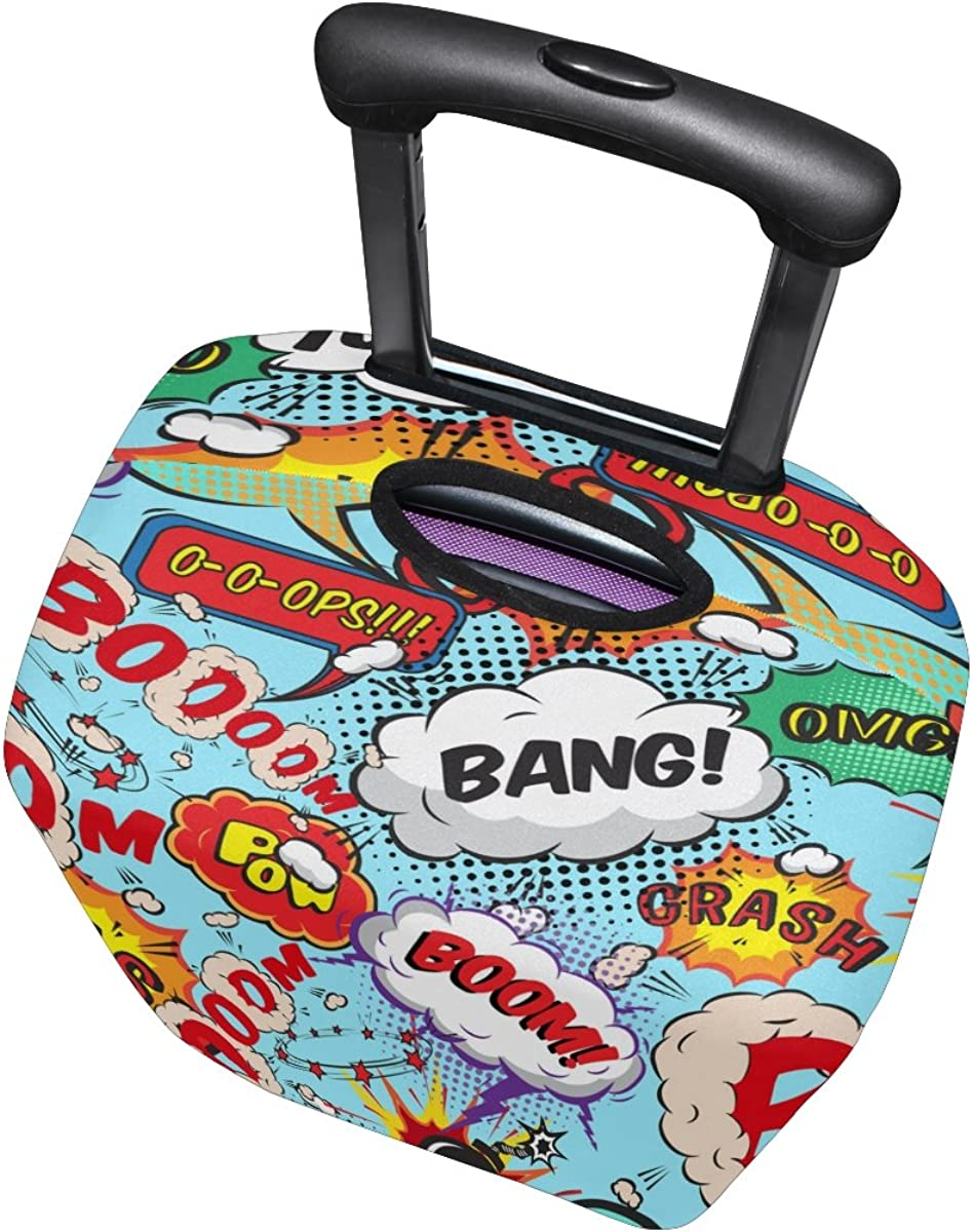 GIOVANIOR Comic Speech Bubbles Luggage Cover Suitcase Protector Carry On Covers