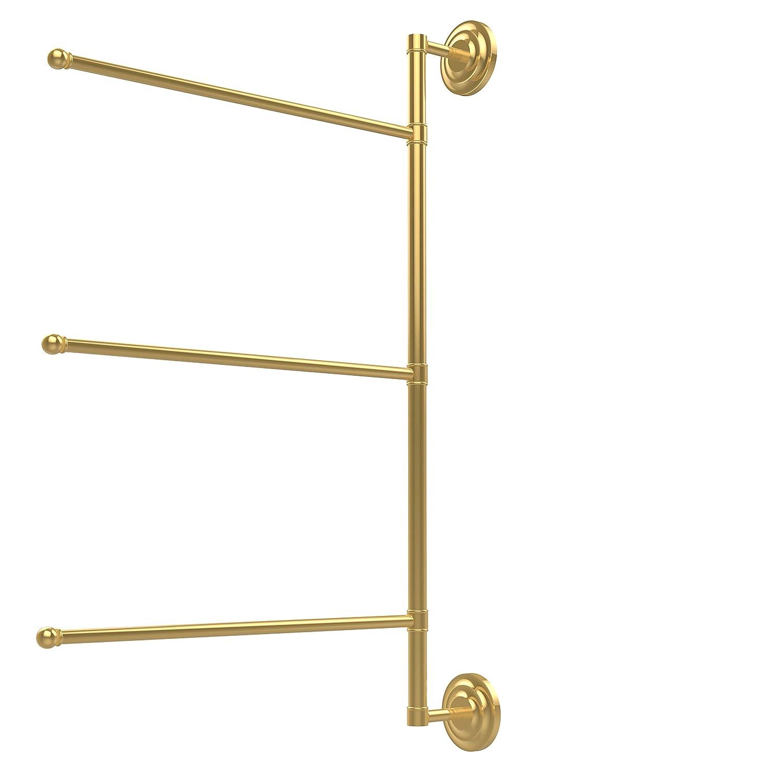 Allied Brass PQN-27//3//16//28-BKM Prestige Que New Collection 3 Swing Arm Vertical 28 Inch Towel Bar 28 Matte Black