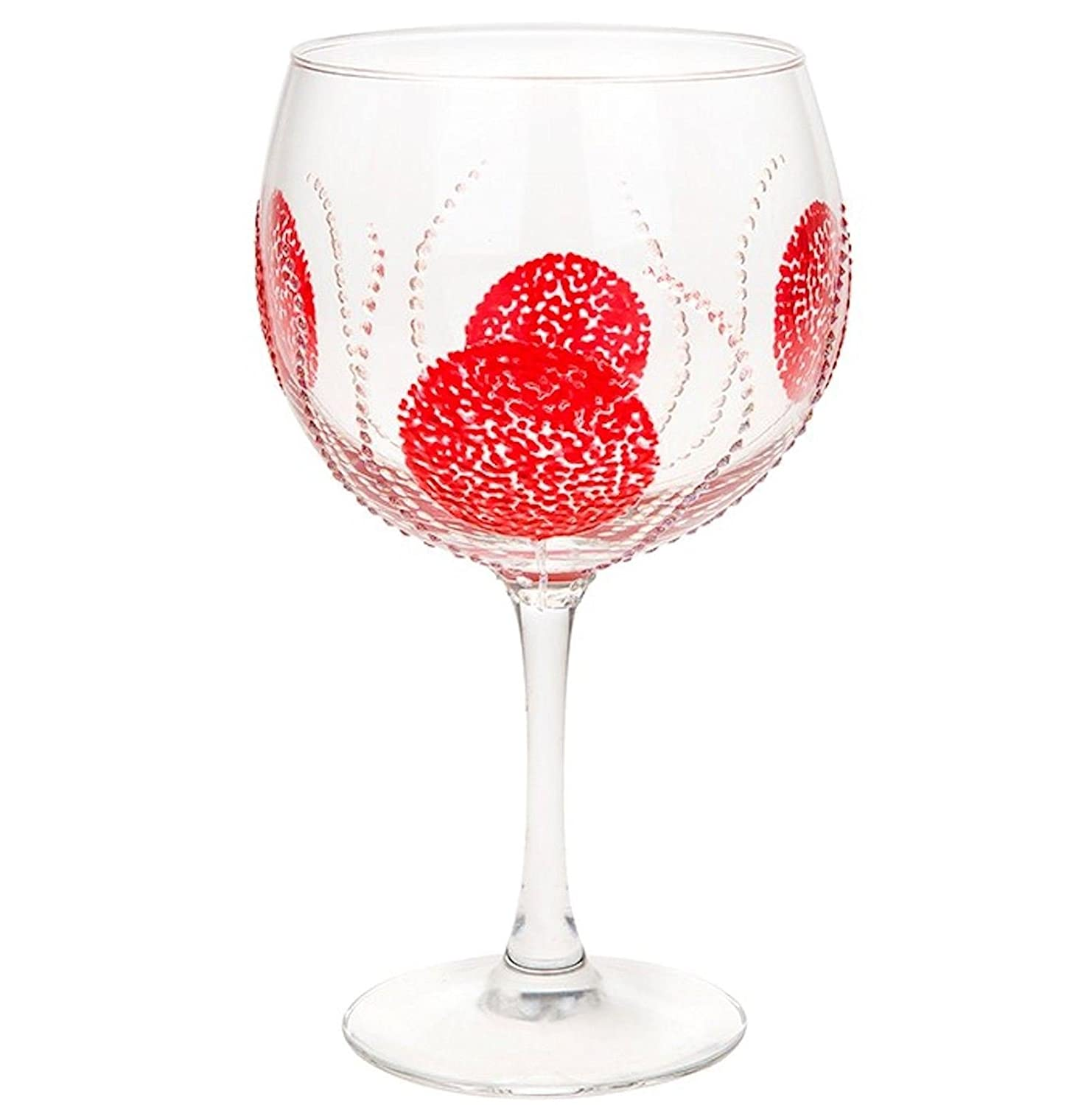 Sunny By Sue Large 600ml Gin /& Tonic Goblet Hand Decorated Gin Glass Various Designs Red Burst