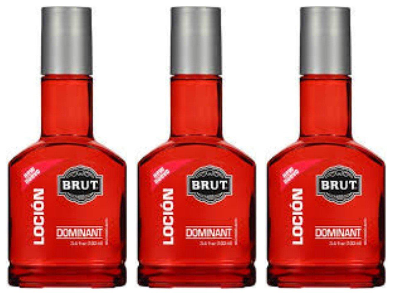 Lot of 3 Brut Locion Dominant 3.4 fl oz each