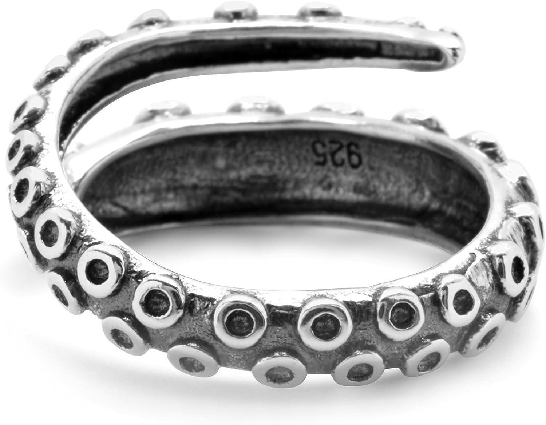 verstellbar Retro-Schmuck poliert Sperrins Oktopus-Ring f/ür Damen und Herren Tentakel