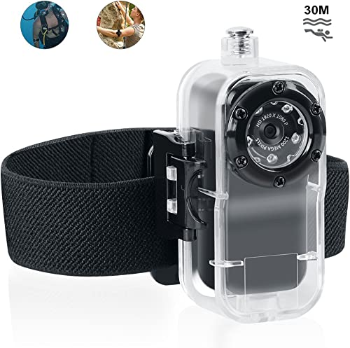 Toughsty Cool Small 1920X1080P HD Waterproof Camcorder Mini Video Camera for Outdoor Recreation Sports Action