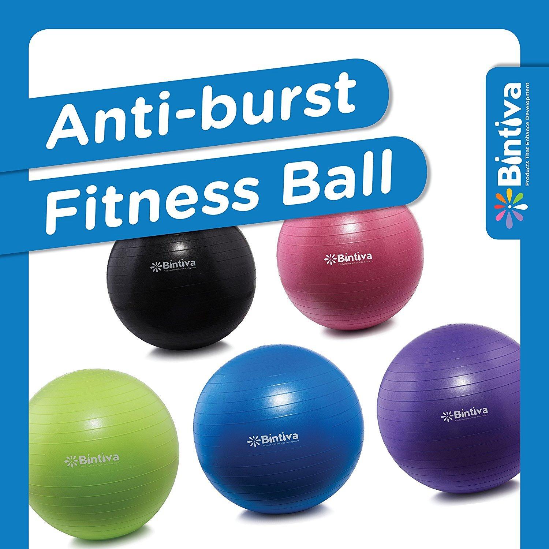 Anti-burst Fitness Exercise Stability Yoga Ball / Swiss, Birthing, gym Ball Purple 55CM