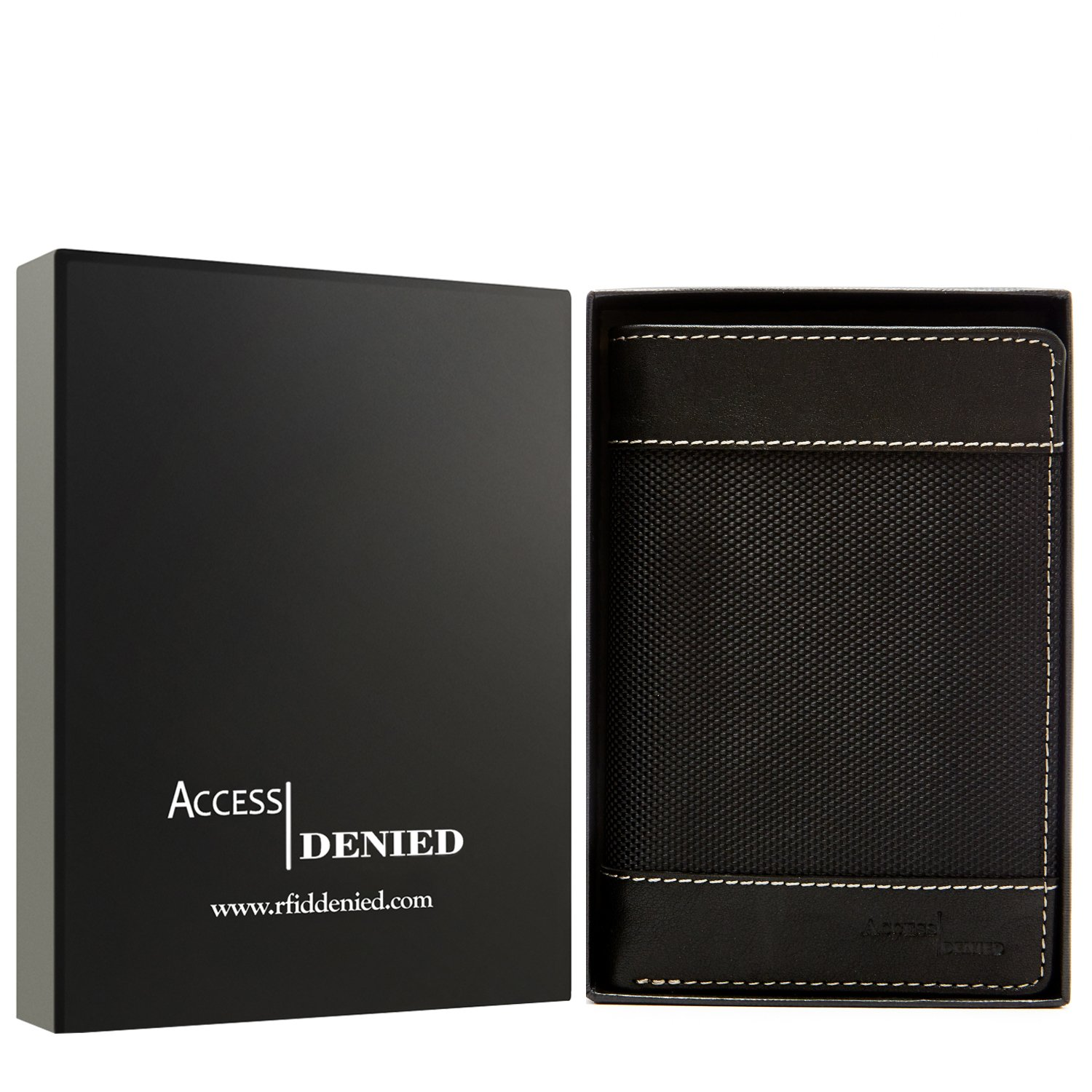 Passport Holder Cover RFID Blocking - Leather Travel Wallet Credit Card Organizer by Access Denied (Image #2)