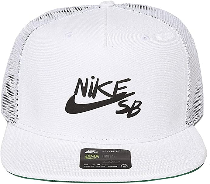 Nike Mens Gorra Trucker Reveal 850814, White/Black/Pine Green ...
