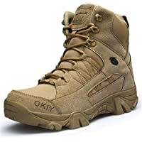 WOJIAO Ejército Comando Masculino Combate Desierto Invierno Al Aire Libre Senderismo Botas Aterrizaje Zapatos Militares…