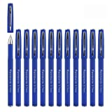Keeswin 水性ボールペン ローラーボールペン 就活ペン 手帳用ボールペン 0.7mm線幅 12本セット(ブルー)