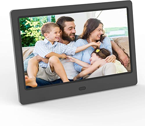 Digital Picture Frame 7 Inch Photo Slideshow LCD Widescreen Vucatimes F7 USB SD Card Slots Music Video Calendar Support Remote Control Auto Power On and Off Black