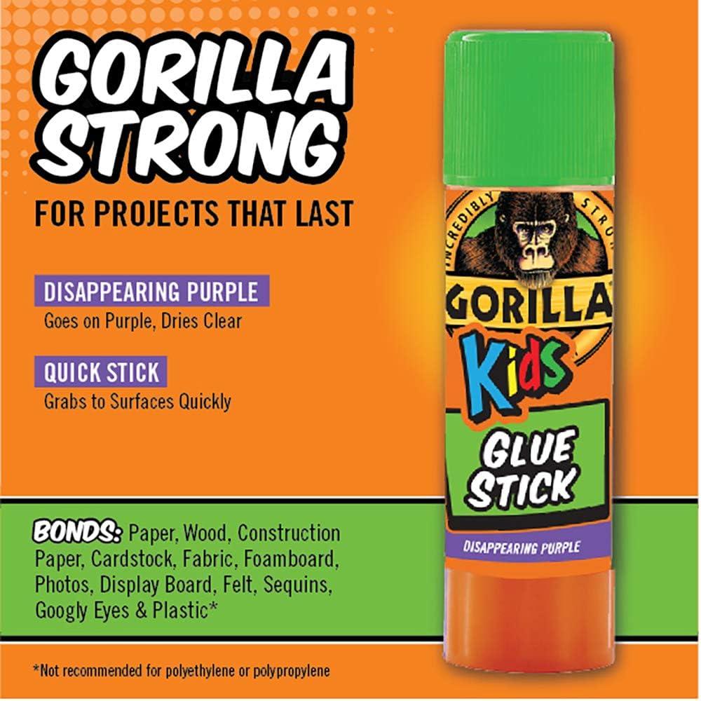 2 Piece 1-Pack Disappearing Purple 2 Pack Gorilla 2605201 School Glue Sticks