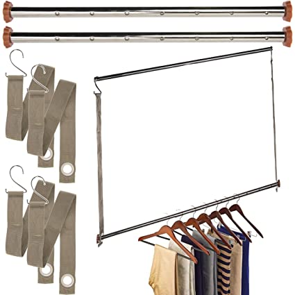 Charmant Neatfreak Michael Graves (3 Pack) Extendable Closet Hanging Bars Doubler  Rods Clothes Organizer
