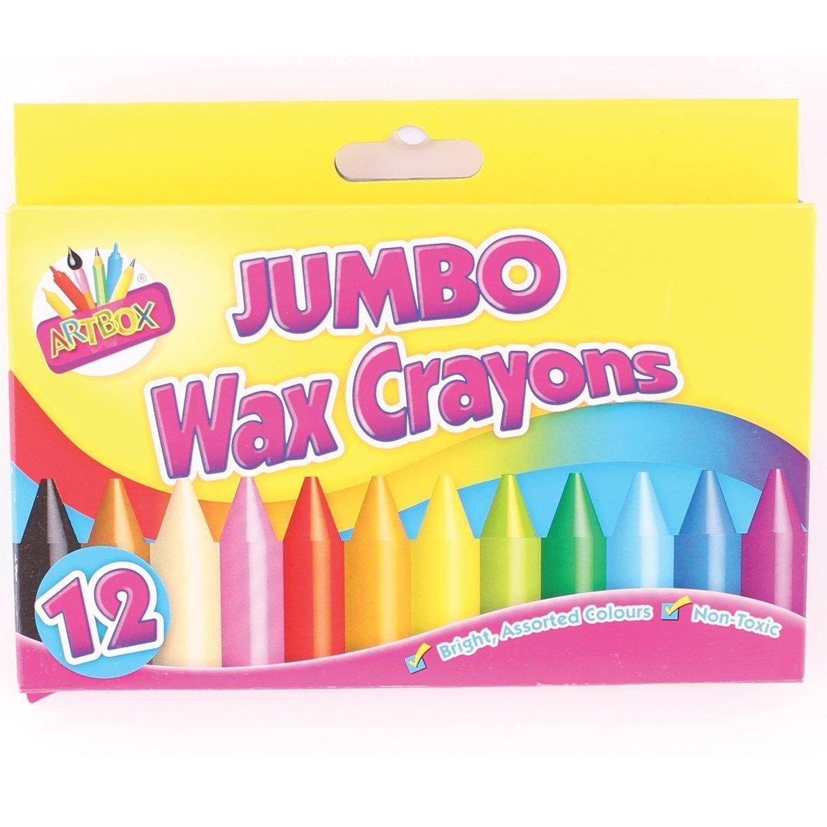 2 X Artbox 12 taille jumbo crayons de cire ensemble de 12 assortiment de couleurs