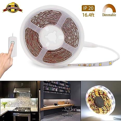 led strip lights dimmable rope lights 12v led light strip white rh amazon com