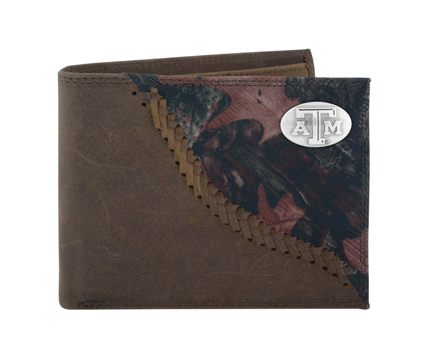 NCAA Texas A&M Aggies Zep-Pro Bifold Concho Wallet, Camouflage