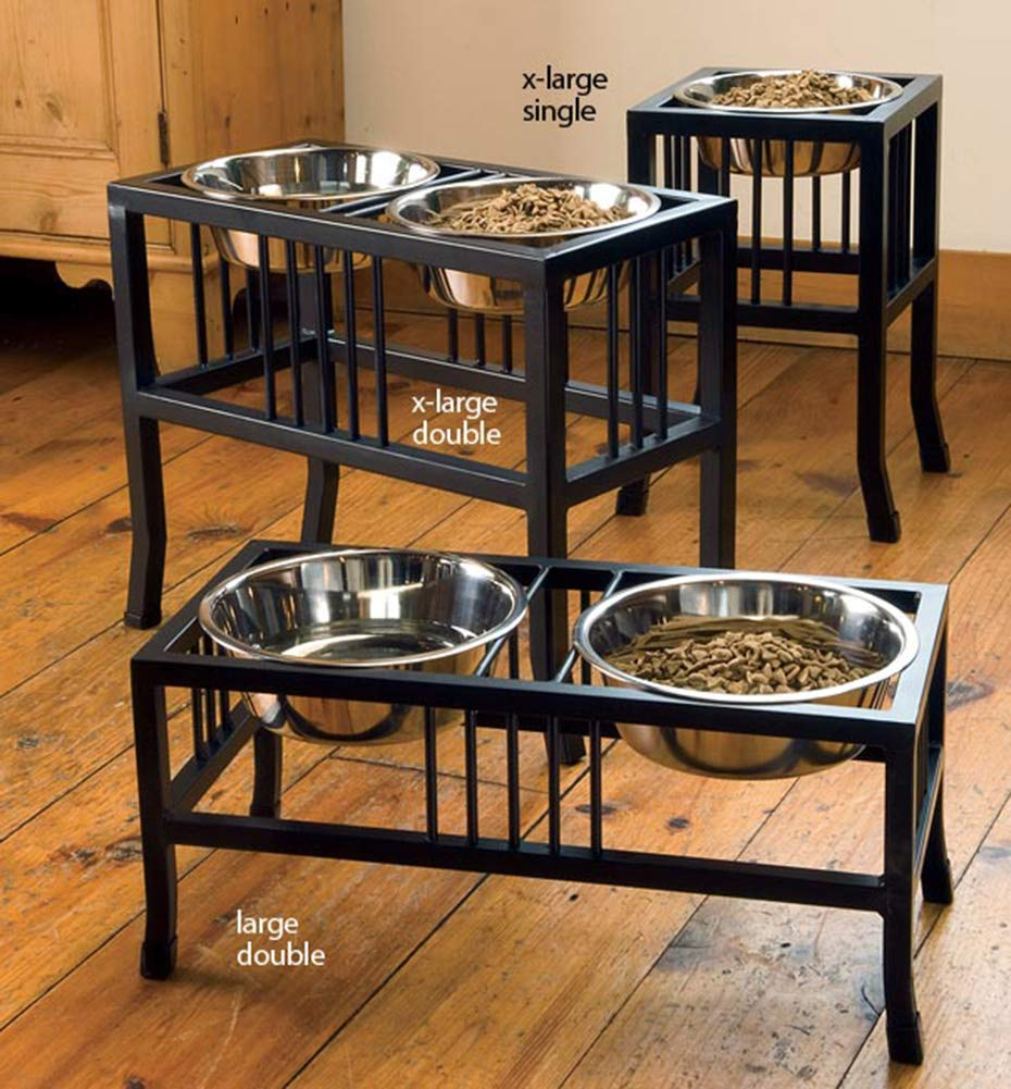 BLACK SMALL BLACK SMALL Orvis Mission-style Feeder Double Feeder, Black, Small