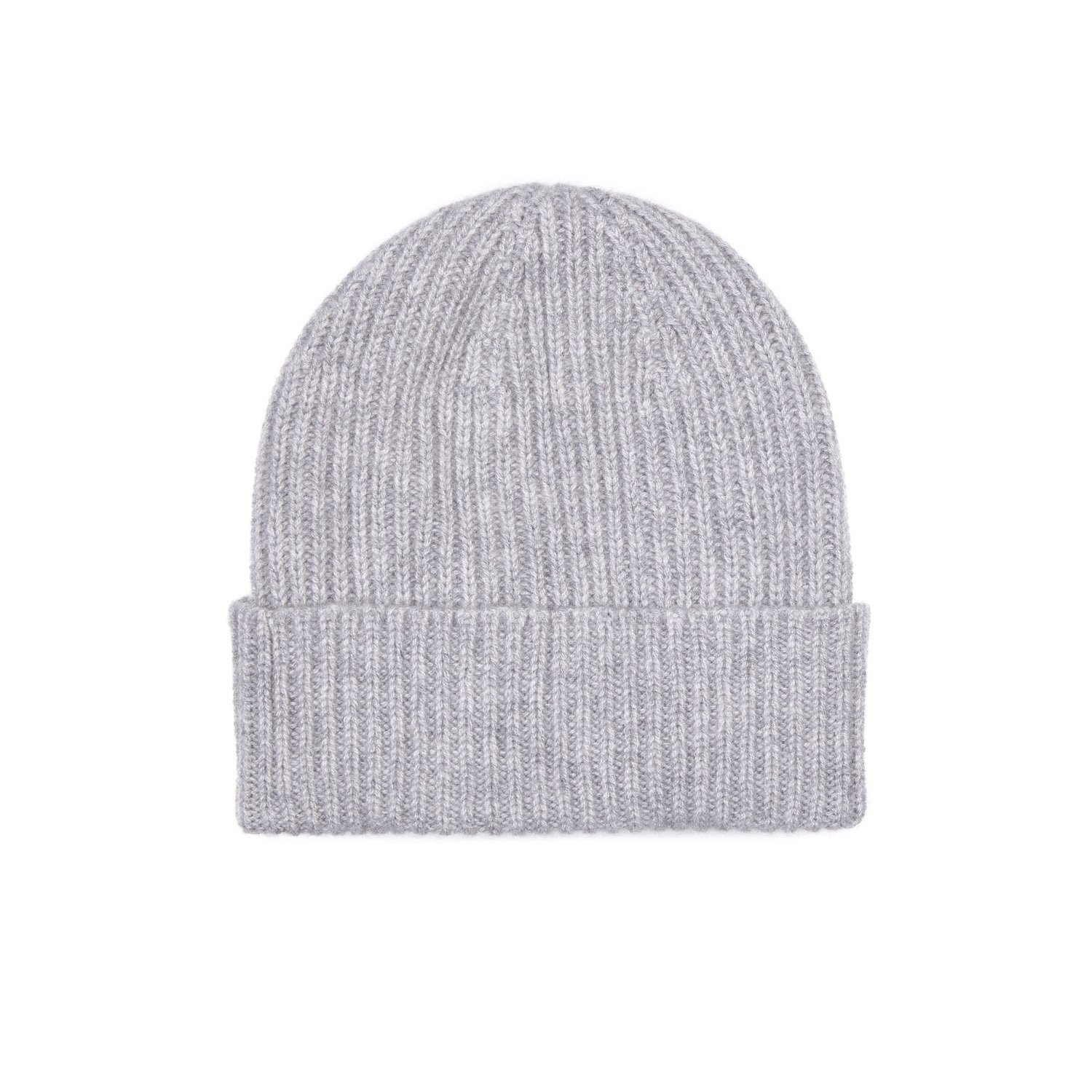 100% Cashmere Beanie Hat in 3ply, Made in Scotland Black