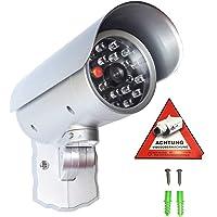 Cámara de seguridad falsa con luz LED roja