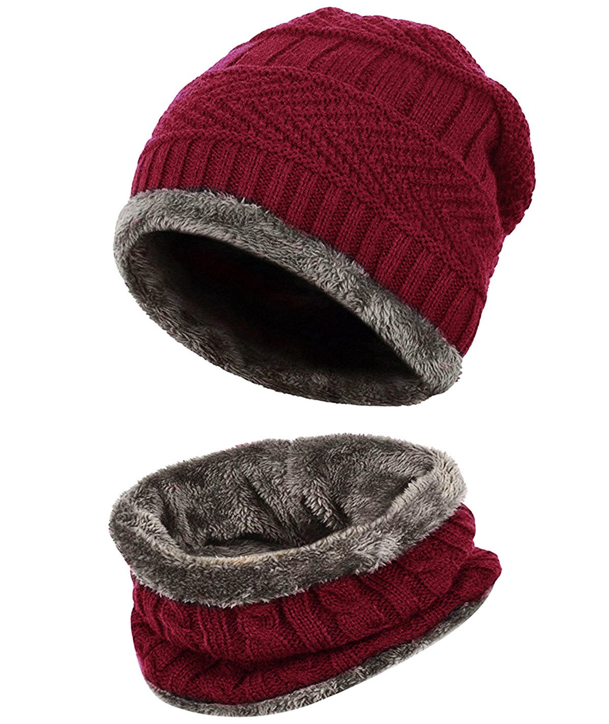 1bb3eb7293a Loritta Men Beanie Hat Scarf Set Winter Warm Knit Hat and Infinity Scarf  Gift Set product