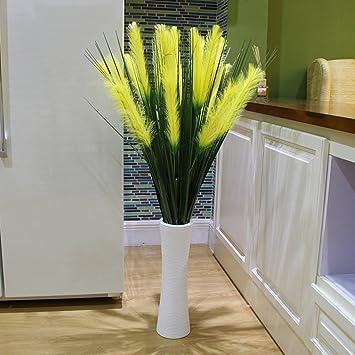 WENZHE Gefälschte Pflanze Künstliche Blumen Heimzubehör Bodentyp Große  Schilfrohre 1,2 Meter Hoch, Keramikvase