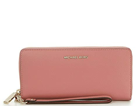 e27b1fb8fe2d Image Unavailable. Image not available for. Color: Michael Kors Saffiano  Leather Jet Set Travel Continental ...