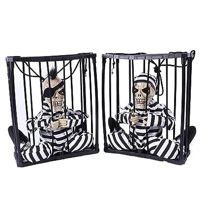 Halloween casa encantada bar ktv decorativo accesorios, Halloween Sensor de movimiento Cárcel Preso Terror con