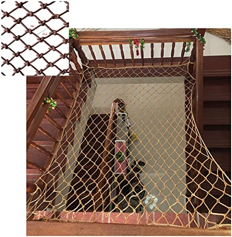 Color : Army Green, Size : 10mm//10M TorchJPA Nylon Rope Net Safe Net Strong Material Protective Net Balcony Stairs Fall Prevention Net Color Decorative Net Fence