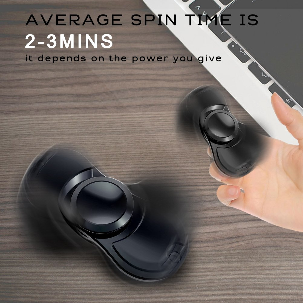 Fidget Spinner, AOPETIO Toy Finger Stress Reliever Reduce Anxiety ADD ADHD Focus Your Mind (Black)