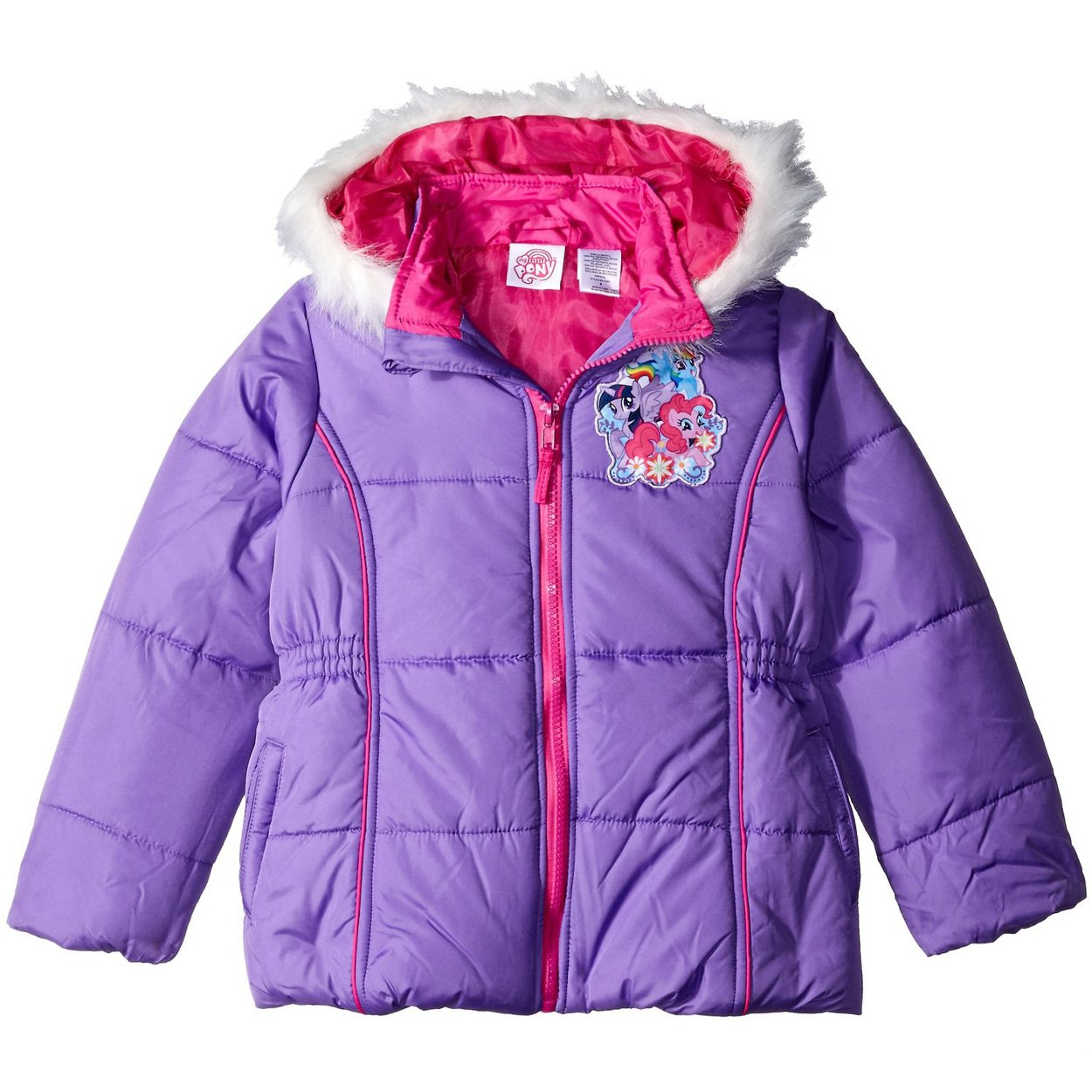 89b03887e Amazon.com  My Little Pony Little Girls Puffer Coat Jacket (4