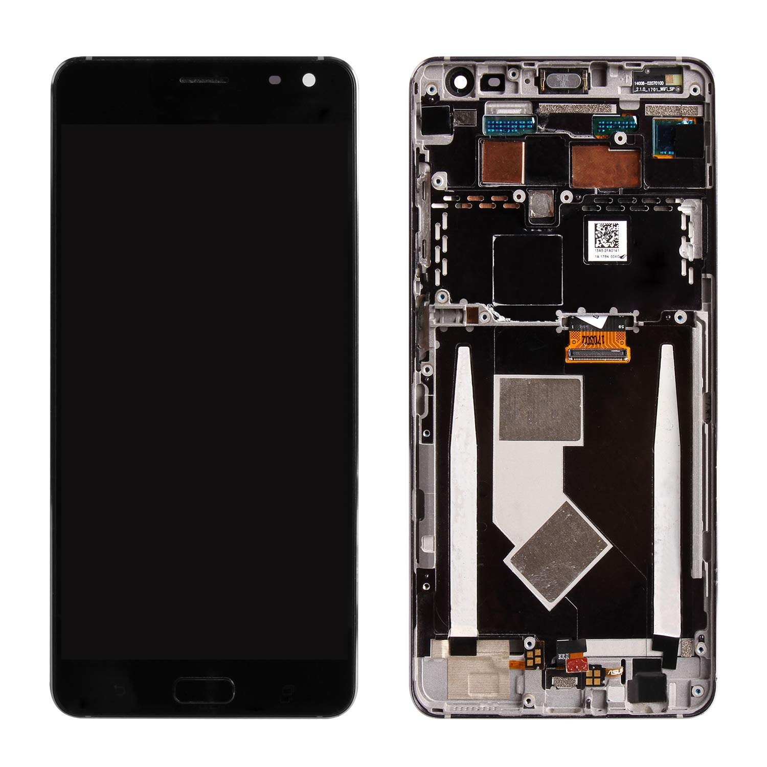Screen Replacement for ASUS ZenFone AR ZS571KL, Compatible with A002A 5.7'' LCD Display Touch Screen Replacement Digitizer Assembly with Repair Tools Kits (Black with Frame) by Puzzle