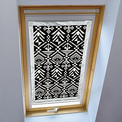 liveinu store pour fenetre de toit pare soleil rideau occultant portatif de voyage motif geometrique complete avec ventouses sans percage protection