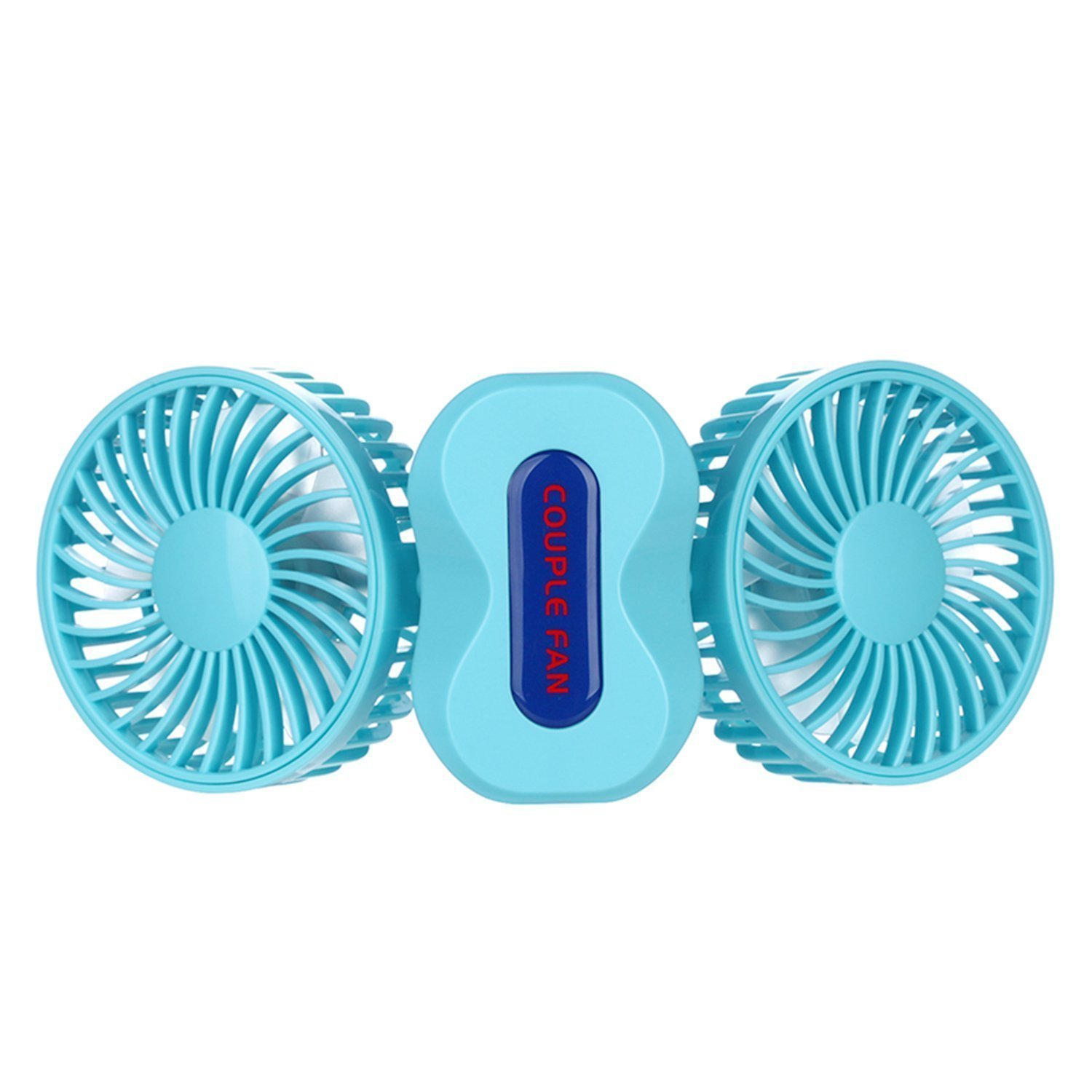 Quiet Small Fan Portable Personal Fan Battery Operated Couples Mini USB Rechargeable Table Fan Electric Handheld Fan Cooling for Home Travel Bedroom Office Hiking Desk Kids Outdoor Camping (Blue)