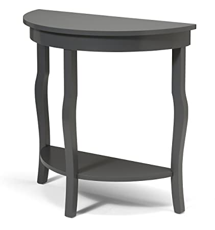 Amazoncom Kate and Laurel Lillian Wood Half Moon Console Table