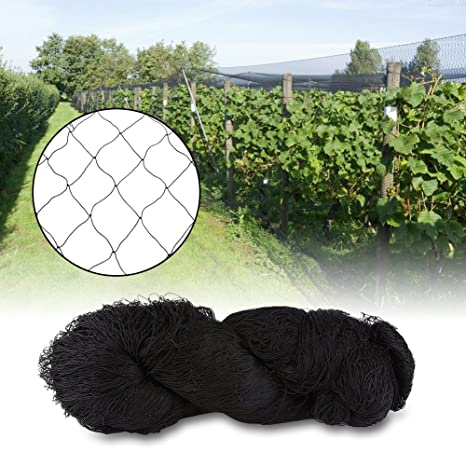 Bird Net, Heavy Duty Anti Bird Protection Mesh Net for Farms Vineyard  Agricultural Planting, Black (nylon, 25' x 50')