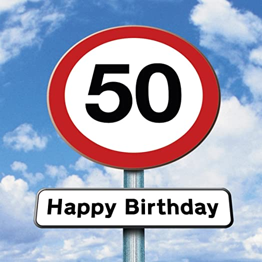 Twizler 50th Birthday Card Roadsign 50 Year Old Age 50 – 50 Year Old Birthday Card