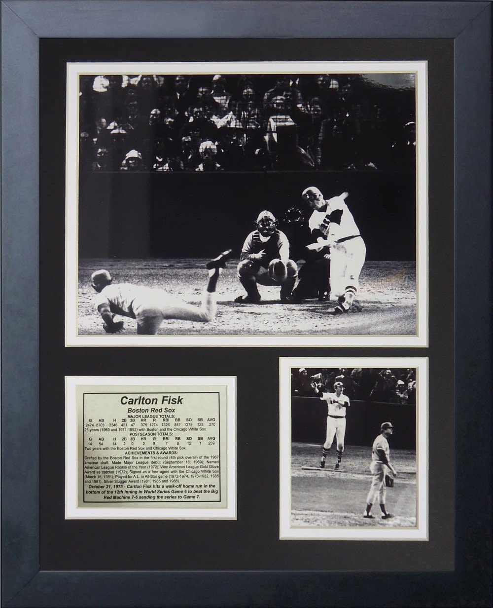 Legends Never Die 1975 Carlton Fisk Home Run Framed Photo Collage 11 x 14-Inch