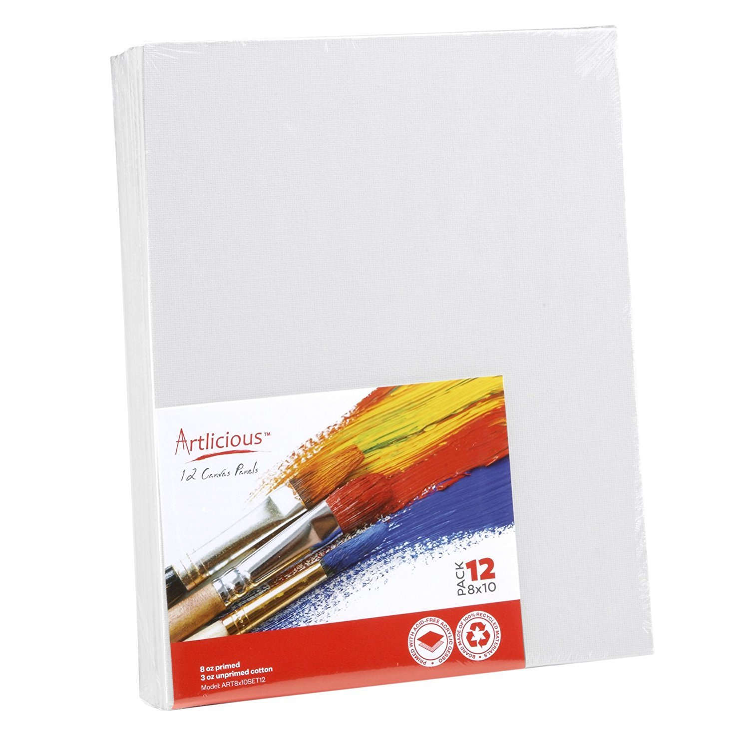 Artlicious Canvas Panels 48 Pack - 8''X10'' Super Value Pack- Artist Canvas Boards for Painting by Artlicious (Image #1)