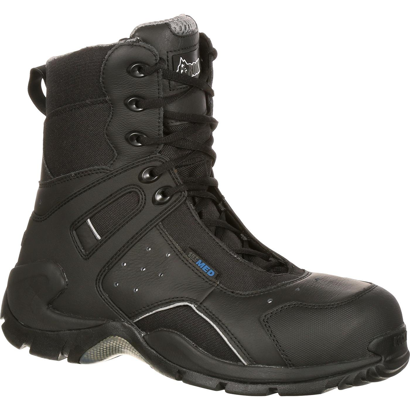 Rocky Men's 8 Inch 1st Med 911-113 Puncture Resistant Work Boot,Black,11.5 W US by ROCKY