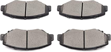 Front /& Rear Ceramic Brake Pads Kit for 2013-2015 ILX Civic 2003-2007 Accord