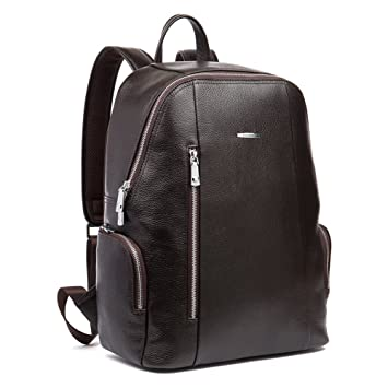 Amazon.com: BOSTANTEN Leather Backpack School Laptop Travel Camping Shoulder Bag Gym Sports Bags for Men Coffee: BOSTANTEN