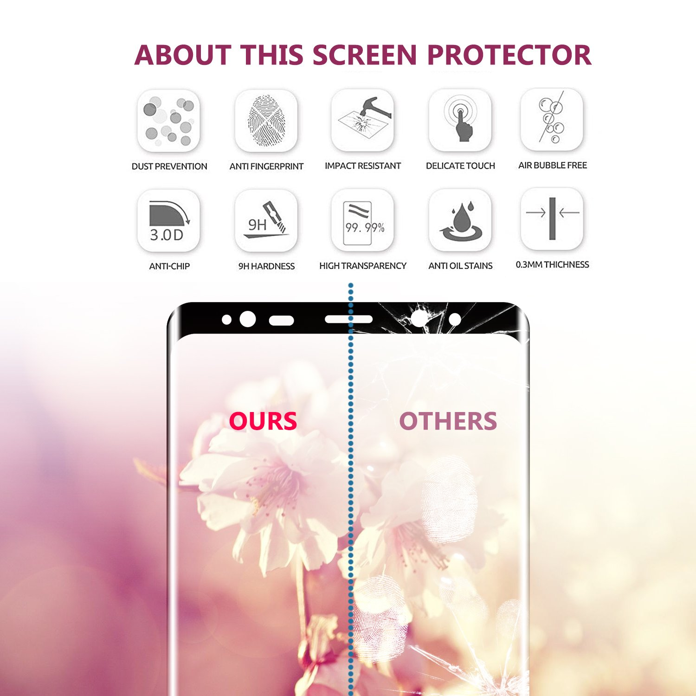 SGIN Galaxy Note 8 Displayschutzfolie Full Screen Amazon Elektronik